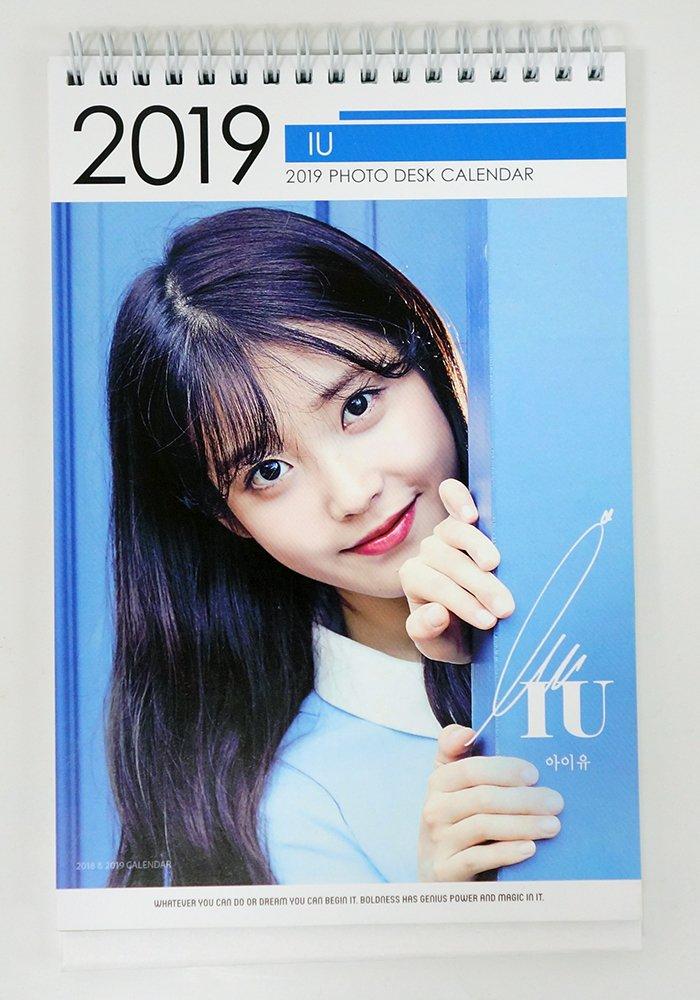 Iu 2019 Calendar IU   2018 2019 PHOTO DESK CALENDAR: IU: Amazon.com: Books