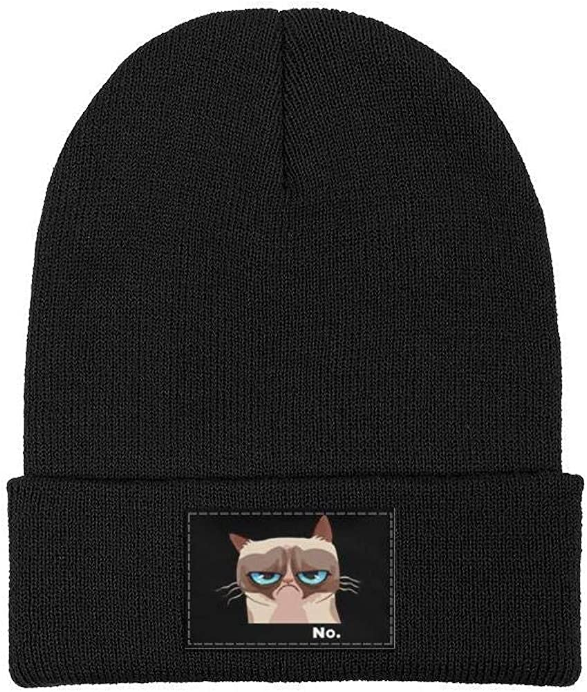 ZYNEW Grumpy Cat No Mens Womens Beanie Hat Warm Woolen Sport Ski Cap One Size