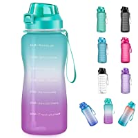 4AMinLA Motivational Water Bottle 64/100oz Half Gallon Jug with Straw and Time Marker...