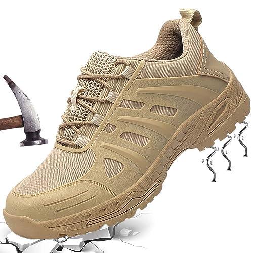 GUFANSI Arbeitsschuhe Damen Sicherheitsschuhe Herren mit Stahlkappe Kevlar Leicht Sportlich Sneaker Schutzschuhe