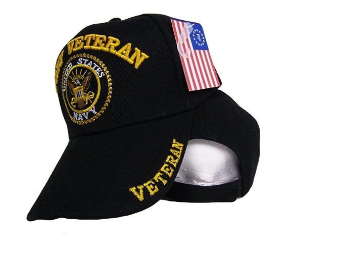 Infinity Superstore Black US Navy Veteran Ball Cap 3D Embroidered Hat U.S.  Navy 402B 90aecfc7bef6