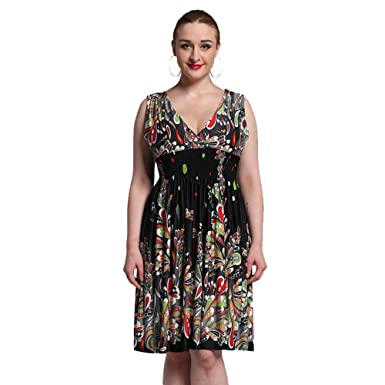 ihTVRpXyX Women Boho Dress Ladies Vestidos Largos Robe Femme Print Beach Dresses Plus Size