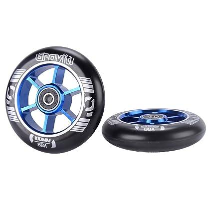 Amazon.com: GRAVITI - Par de ruedas para patinete (3.937 in ...