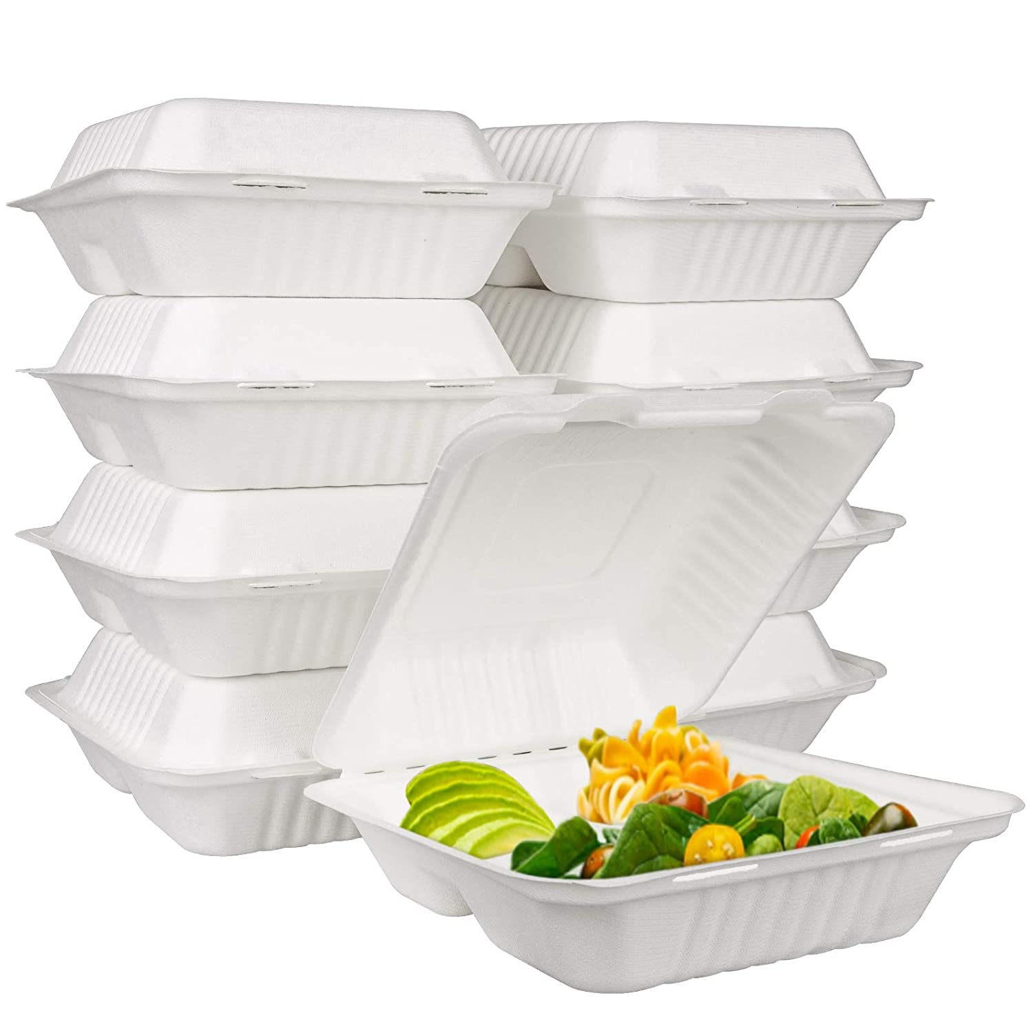 Bekith 90 Pack Clamshell Take Out Food Containers (8