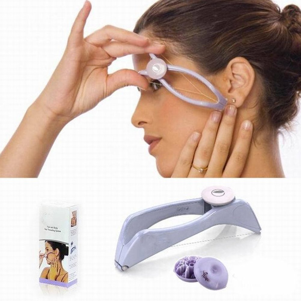 Facial Hair Remover Kit Lightweight Women Eyebrow Threading Epilator Makeup Beauty Tools Hair Manual Remover for Girls Ladies by Hinmay
