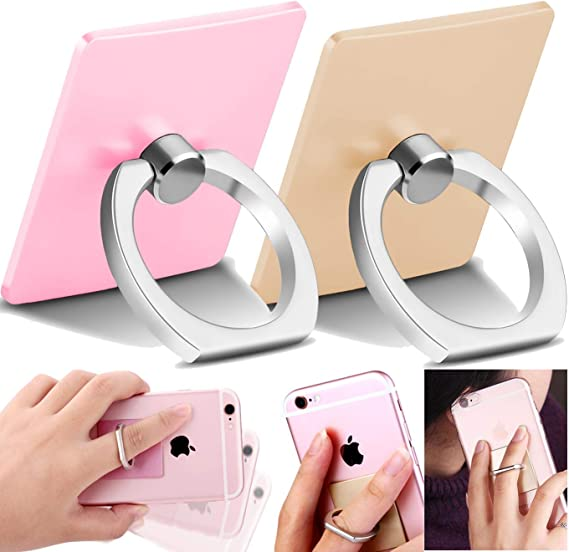 Silver Tomorotec Round Cell Phone Ring Stand for Magnetic Car Mount with Black Car Mount Hook Galaxy S8 S7 S6 Edge Phone Ring with Diamonds for iPhone X XR XS 8 7 Plus 6S 6 5s 5 SE