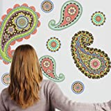 Pretty Paisley Dots Wall Decals Stickers Repositionable