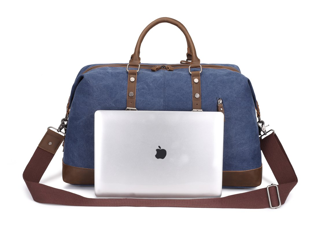 Weekend Bag Weekender Overnight Bag Canvas Vintage Travel Duffle for Men Women by UPANDFAST (Image #2)