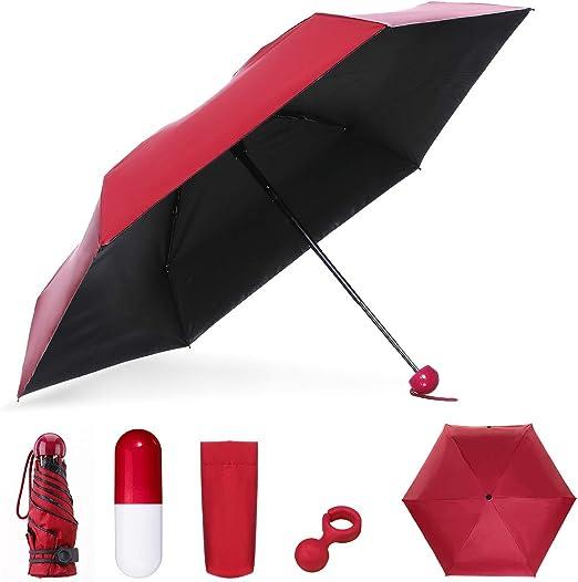 NASUM Mini Paraguas Plegable, Paraguas Portátil en Forma de ...