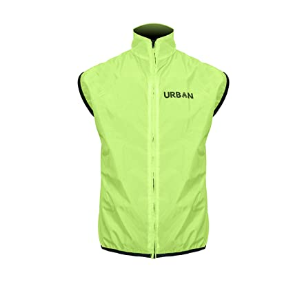 Amazon Com Safety Yellow Cycling Vest Very High Visibility