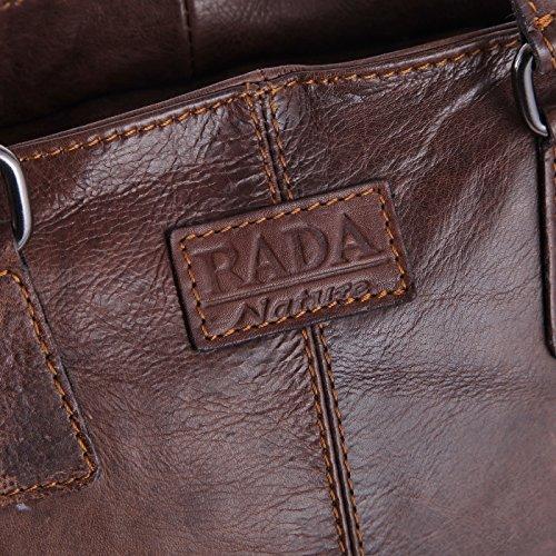 Rada Nature Kurzgriff Tasche Piombino echt Leder Handtasche in verschiedenen Farben Mocca