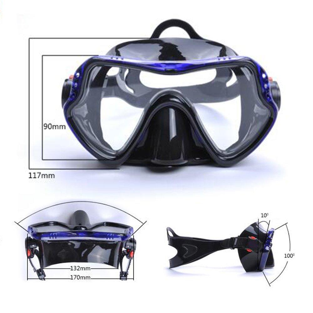 yfx crear nariz para nadar gafas de buceo apnea máscara de buceo gafas de natación para hombres mujeres adultos, negro: Amazon.es: Deportes y aire libre