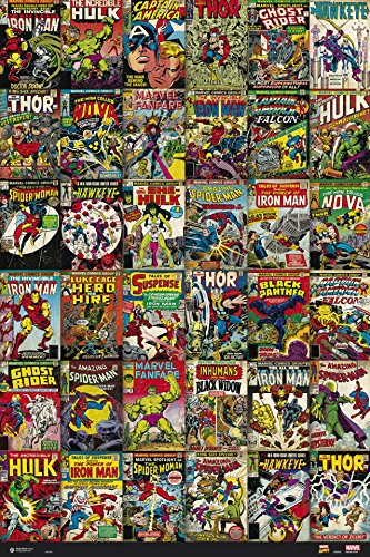Marvel Comics - Poster / Print (36 Classic Marvel Comics Covers Collage) (Size: 24