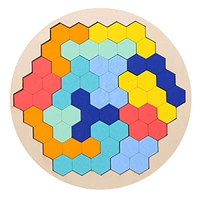 Children's Educational Toys,Wooden Puzzle Geometric Puzzles,Challenging IQ Games The Learning Journey Match It Hundreds Variants Building Blocks Exercise Manual Brain Polygon Eco-Friendly Materials: Toys & Games