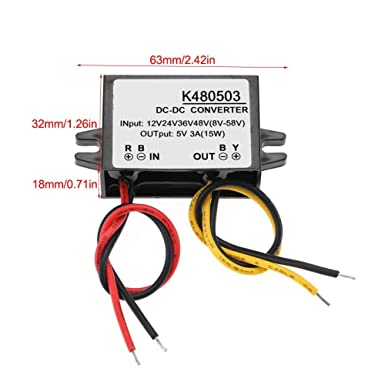 Drehregler frei regelbar USB  3,5V 5V 9V 12V 24V DC Spannungswandler Display