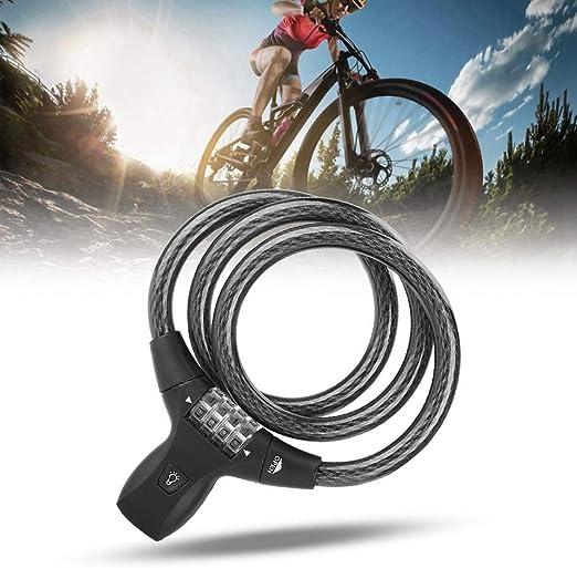 Pangding Bicicleta Cable Lock, 85cm Aleación de Zinc Antirrobo 4 ...