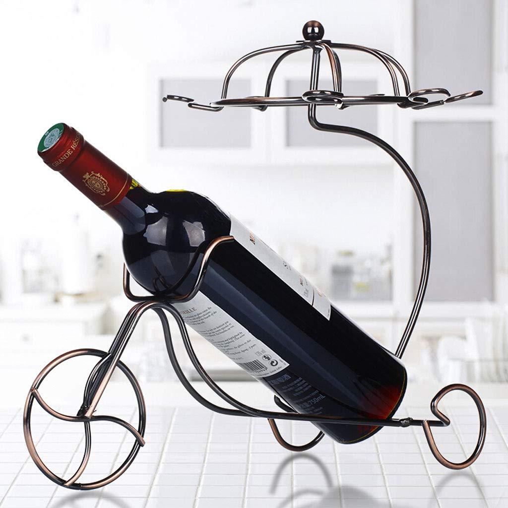 Xunlin Estante de Vino Colgante Colgante Colgante Estilo carruaje de Bronce Soporte para Copa de Vino al revés Estante de Vino Creativo 6789cb