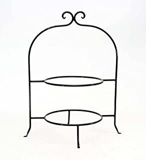 WROUGHT IRON TWO TIER PLATE RACK 8 INCH RINGS-16.5 INCHES HIGH  sc 1 st  Amazon.com & Amazon.com: Wrought Iron Pie Stand/Rack Double Tier Hand Made: Two ...
