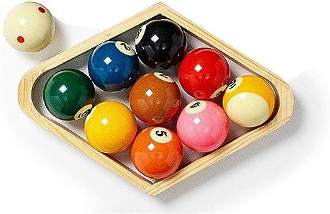 ZHTY Juego de Bolas de Mesa de Billar 2 1/4 Inch Ameican 9 Ball, Resots Spots and Stripes: Amazon.es: Deportes y aire libre