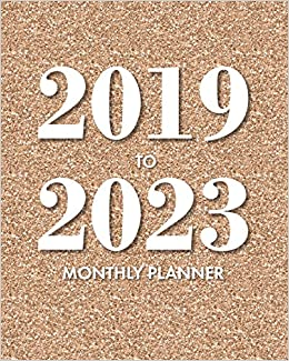 Amazon.com: 2019-2023 Monthly Planner: Rose Gold Glitter: 5 ...