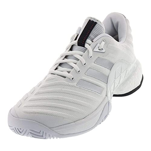 quality design 4ba75 d9133 Adidas Barricade Boost 2018 Mens Tennis Shoe - WhiteSilver ...