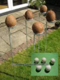 Masters Standard Coconut Shy bundle. 5 coconut shy posts and 15 wooden balls