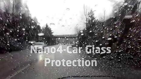 Nano4Carglass 200ml. Repelente de lluvia parabrisas, cristal. Aumenta la visibilidad con lluvia a