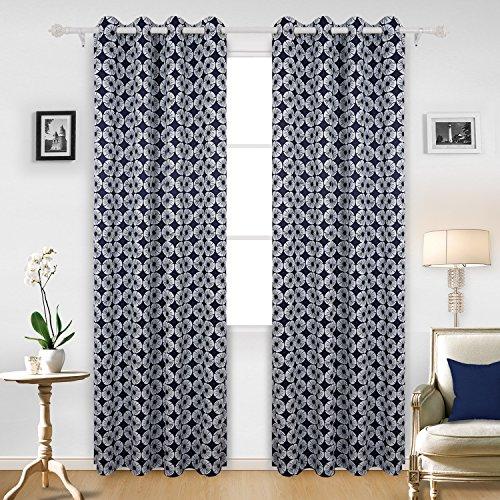 Deconovo Beautiful Eyes Printed Ring Top Curtains...