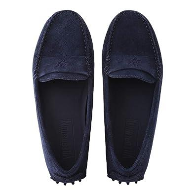 Vilebrequin - Mocasines de Ante Suave de Color Liso para Mujer: Amazon.es: Zapatos y complementos