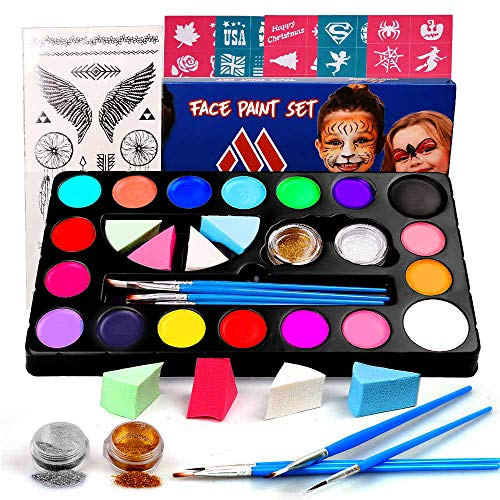 Miserwe Safe Non-Toxic Face Painting Kit-18 Colors