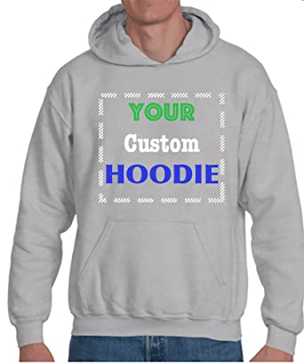 c677e97d Unisex Custom Hoodie| Design Your own Jersey Hoodie | 2 Side Special  Customized Print of