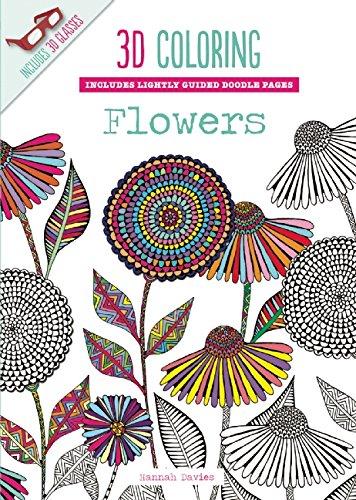 3d coloring flowers emma segal 9781626864597 amazoncom books