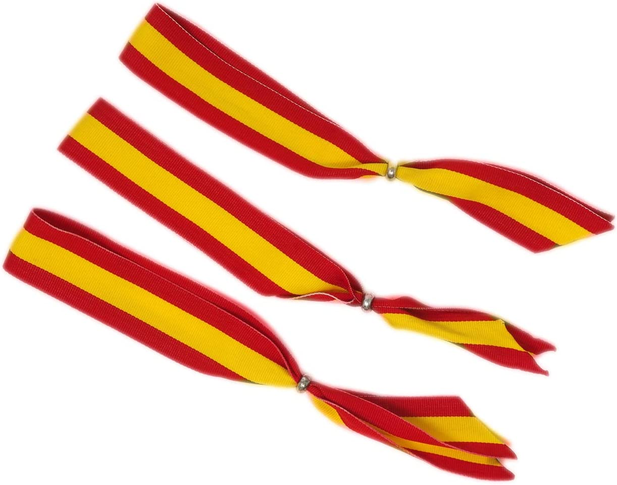 GOS Best Supplies Pack de 3 Cintas para Colgar en el Retrovisor del Coche | Colores Amarillo y Rojo | Colores de la Bandera de España: Amazon.es: Hogar
