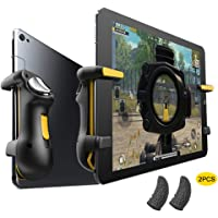 PUBG Controller Capacitance L1R1 Fire Aim Button Gamepad Joystick Continuous click For Ipad Tablet, with 2pcs Gaming Finger Sleeve