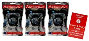 Astronaut Freeze-Dried Ice Cream Sandwich | Ready to Eat | Space Food | Neapolitan Flavor - Pack of 3 | Plus Recipe Booklet Bundle (1 Ounce)