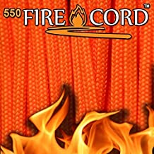 Fire Cord 550 Paracord, Safety Orange by Fire Cord