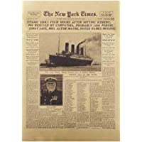 Threete Ingenious Classic The New York Times History Poster Titanic Shipwreck Old Newspaper Retro Kraft Paper Home Decoration