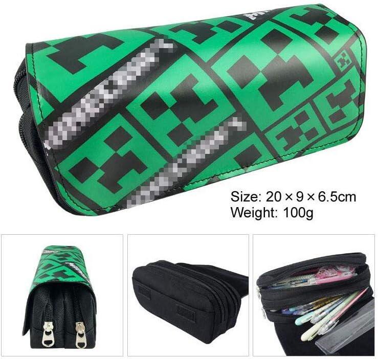 Estuche lapicero de doble capa con diseño de anime, para estudiantes, adolescentes, con compartimentos; neceser-bolsa de aseo, estuche de maquillaje, bolso para teléfono móvil: Amazon.es: Oficina y papelería