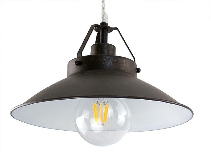 Lampadario Rustico Sospensione : S m lampadario sospensione d cm metallo classico rustico