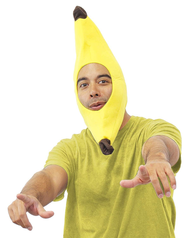 Amazon Com Banana Plush Costume Hat Funny Head Cover Halloween