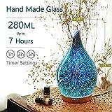 280ml Essential Oil Diffuser 3D Glass