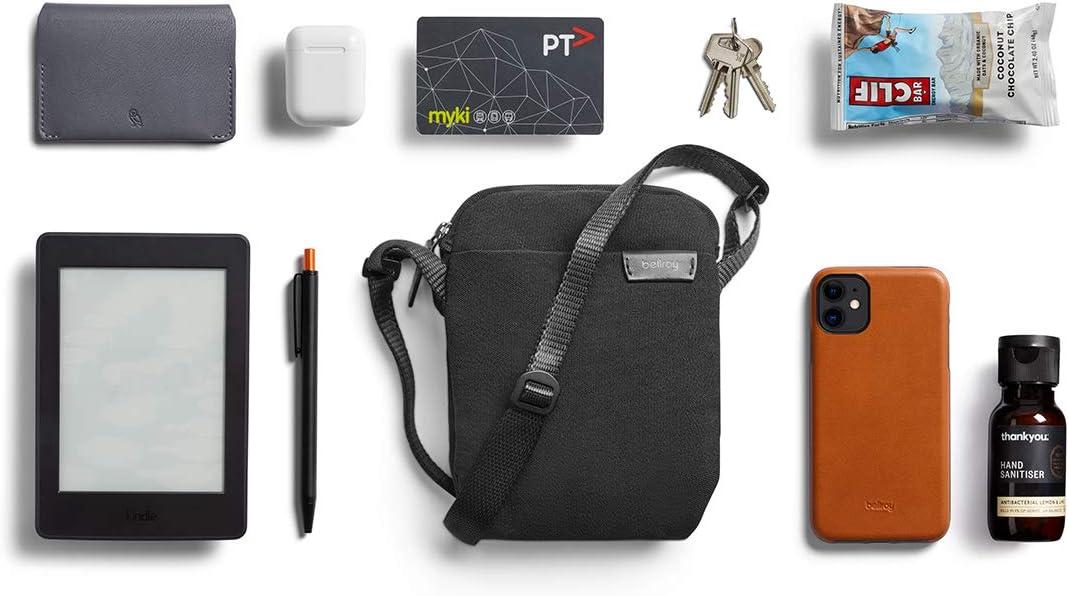 Bellroy City Pouch Basalt sac bandouli/ère, e-reader ou petite tablette, portefeuille, lunettes de soleil, t/él/éphone