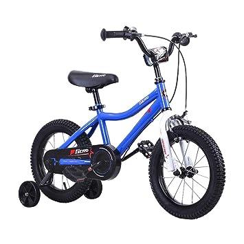 Amazon.com: Bicicleta infantil azul para niños de 12, 14 y ...