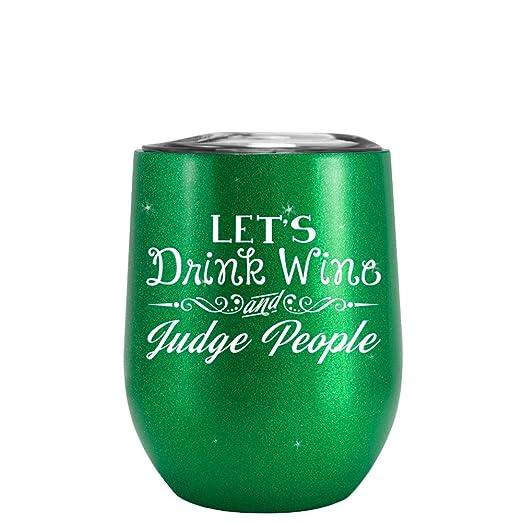 TrekTumblers Vasos para Bebidas, diseño con Texto en inglés Lets ...