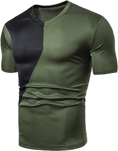 waotier Camiseta De Manga Corta para Hombre Camiseta De ...
