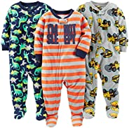 Simple Joys by Carter's Baby and Toddler Boys' 3-Pack Loose Fit Fleece Footed