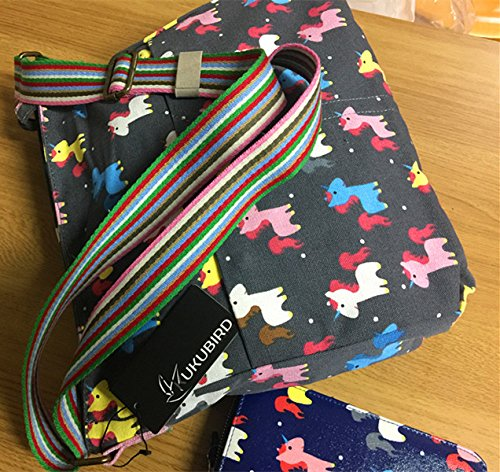 Top Handbag And Various Kukubird Flower Design Handle Tote Crossbody Anchor Bag Umbrella Animal Black Crossbody Shoulder U7Uwq8xB