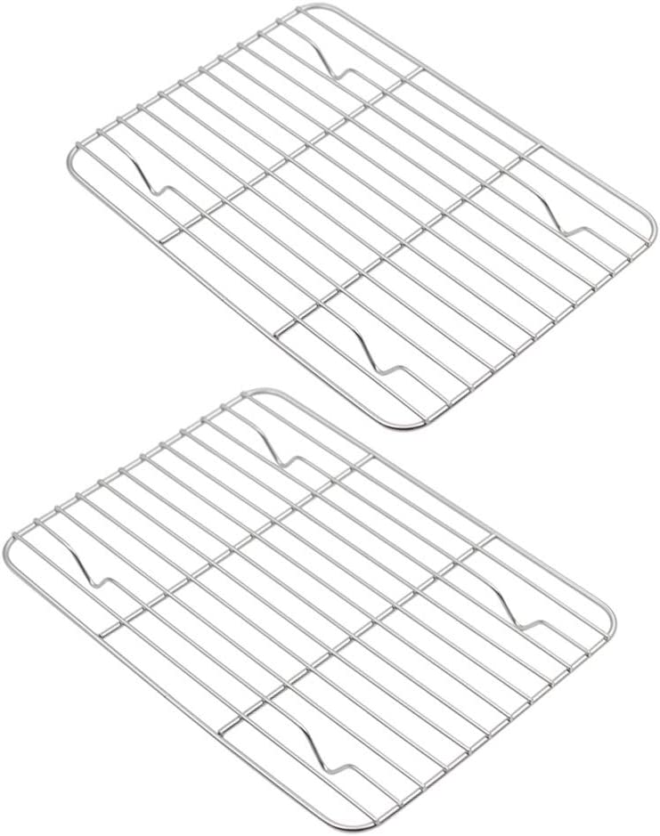 """Aspire Cooling Rack 2 Pack, Stainless Steel Baking Racks for Cooking Baking Roasting Grilling-15"""" x 11"""" 2PACK"""