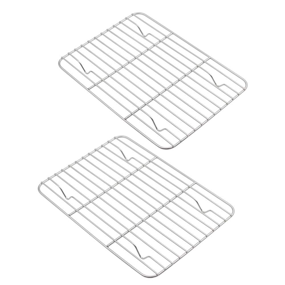 Aspire Cooling Rack 2 Pack, Stainless Steel Baking Racks for Cooking Baking Roasting Grilling-15'' x 11'' 2PACK