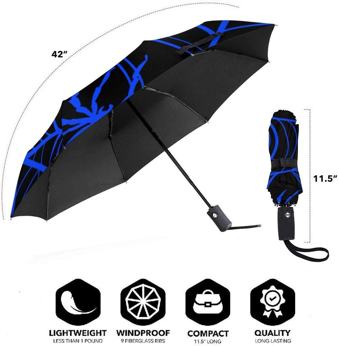 Spider Web Glow In The Dark Automatic Tri-Fold Umbrella Parasol Sun Umbrella Sunshade